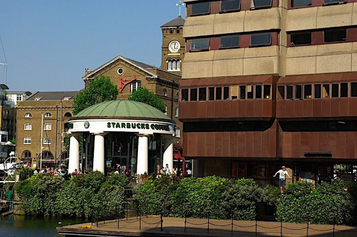 A Starbucks near Tower Bridge, London. I was dreaming my bright future sipping a cup of coffee.