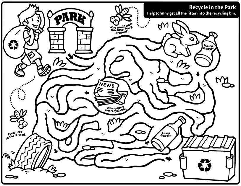 Recycling Coloring Pages Printable colbach Pinterest