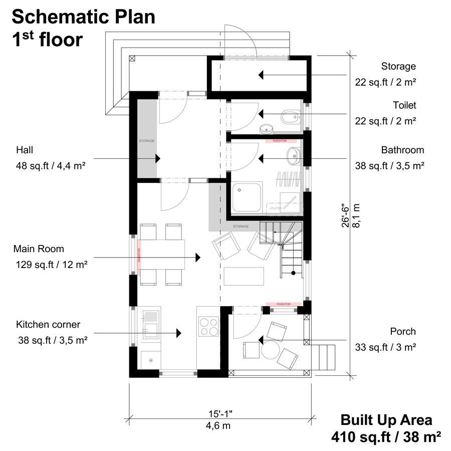 Small 3 Bedroom House Plans Amy Pisos Casas Planos
