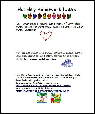 Lots of FREE holiday homework activities (quick and fun!)   \