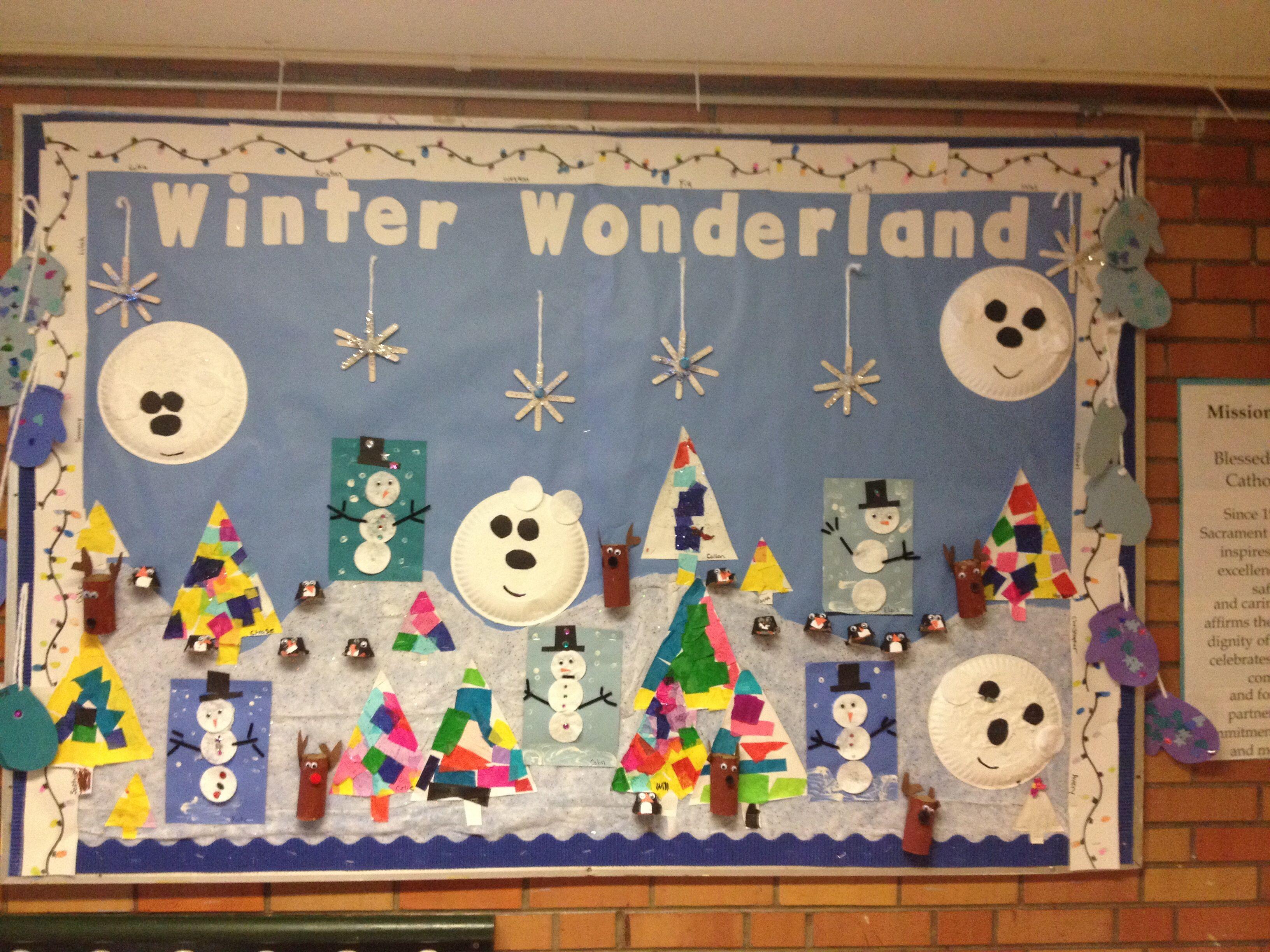 Winter Wonderland Bulletin Board For Preschool