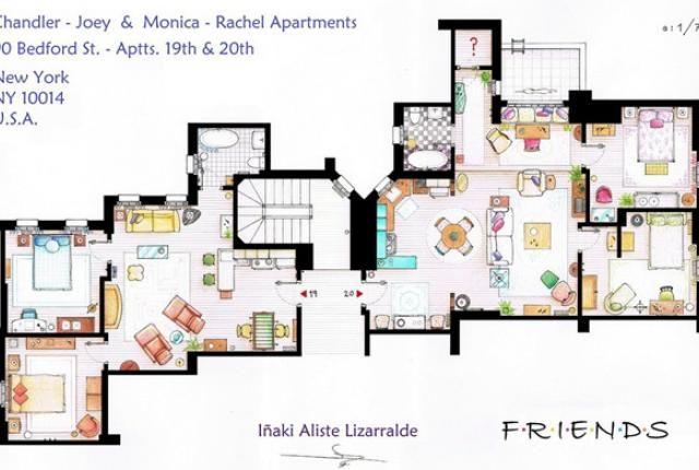 The Missing Links: TV Apartment Blueprints | Apartments