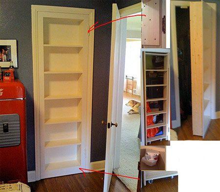Book Latch Hardware | Reader Project Secret Doors Part II. Cabinet Magnet  Lock