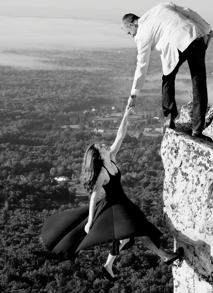 Our Rock Climbing Engagement Shoot In New Paltz York At The Gunks Can