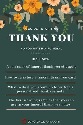 33+ Best Funeral Thank You Cards mom Pinterest Funeral