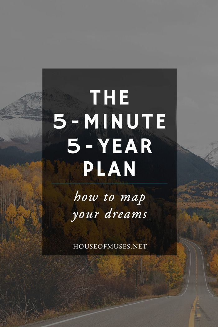 The 5-Minute 5-Year Plan how to map your dream from The House of - 5 minute business plan