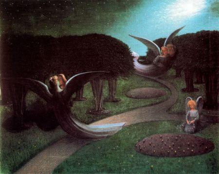 Os anjos da noite- William Degouve de Nuncques, 1890 (simbolits)