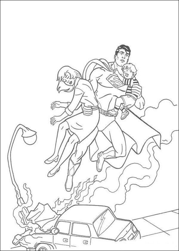 Superman Coloring Page 19 Superman Coloring Pages Batman Coloring Pages Halloween Coloring Pages