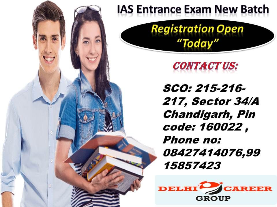 Delhi career Group India's BEST IAS COACHING IN CHANDIGARH