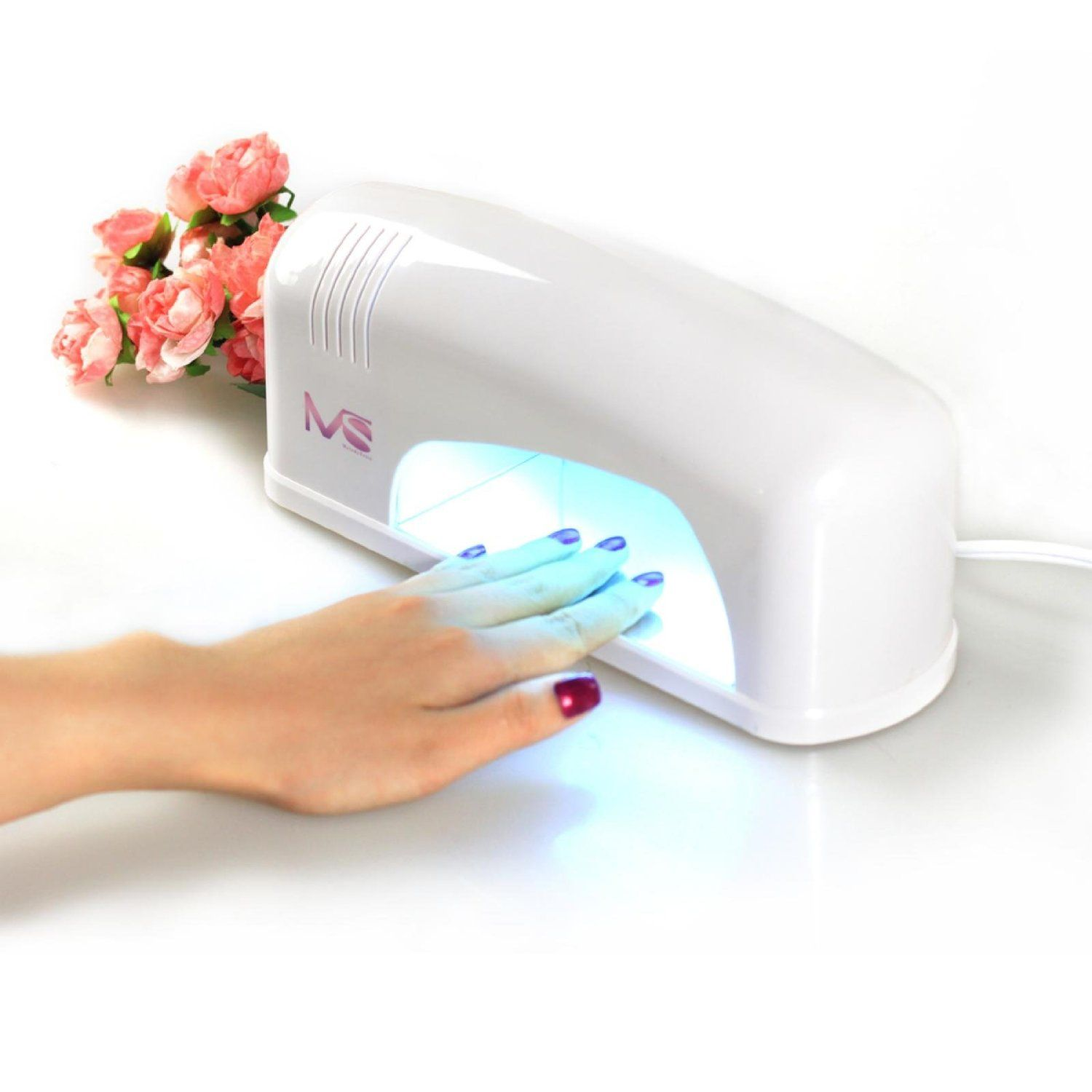 MelodySusie 9W UV Gel Lamp Acrylic Nail Dryer for CND OPI Shellac ...