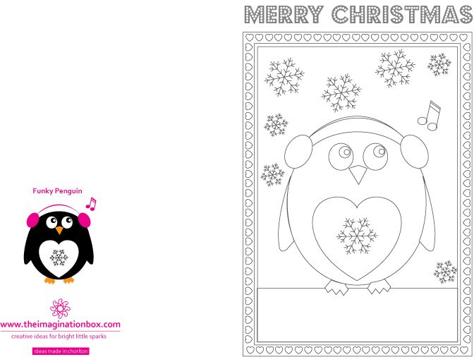 Free Downloads The Imagination Box Free Xmas Cards Free Printable Coloring Printables Free Kids
