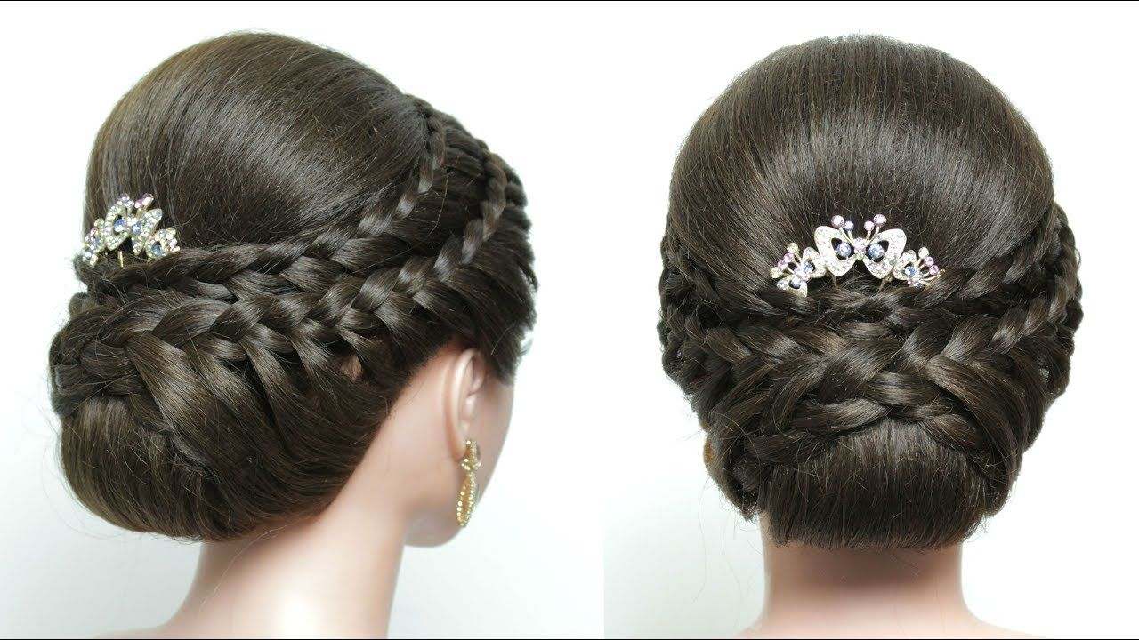 easy wedding updo with braids. bridal hairstyle for long