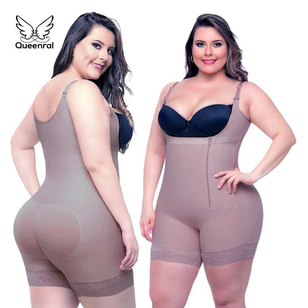 Womens ladies shapewear firm control satin tummy underwear leg
