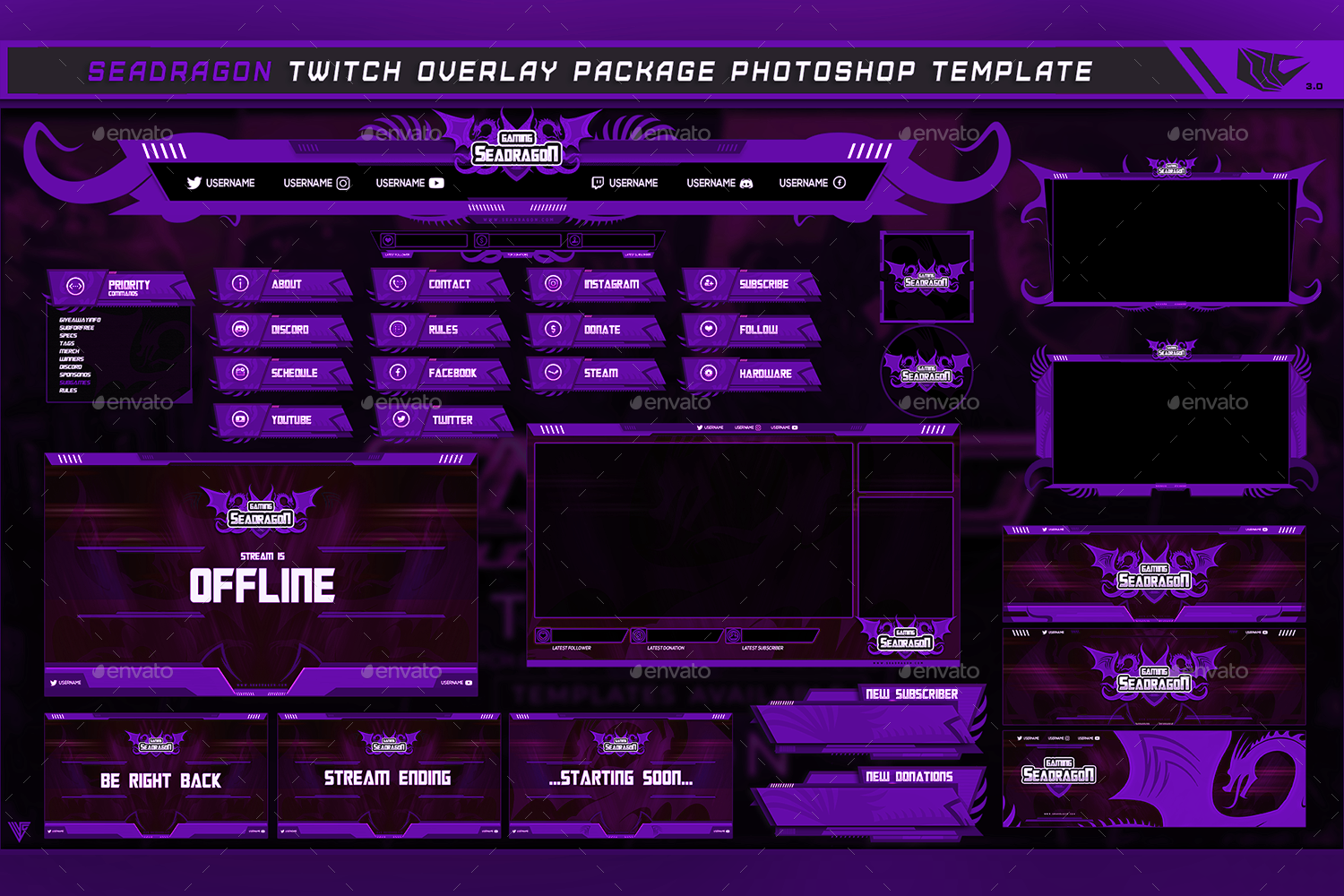 Twitch Overlay Template Overlays Book Design Layout Twitch