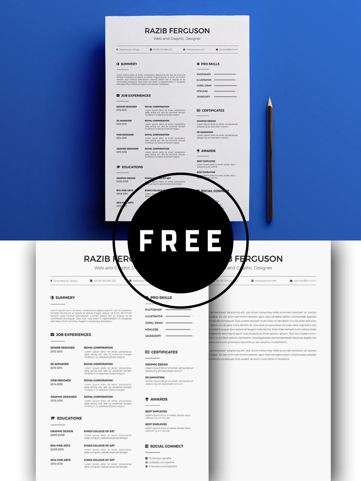 Free resume template resume template free resume