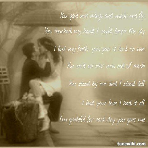 Lyricart For Because You Loved Me By Celine Dion Cool Lyrics Because I Love You Song Lyrics