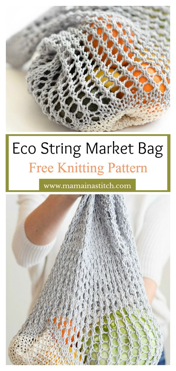 Photo of Lacy Market Bag Free Knitting Pattern
