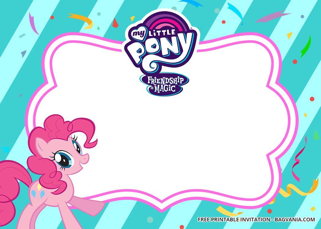 Free Printable My Little Pony Birthday Invitation Templates Updated My Little Pony Birthday Pony Birthday My Little Pony Invitations