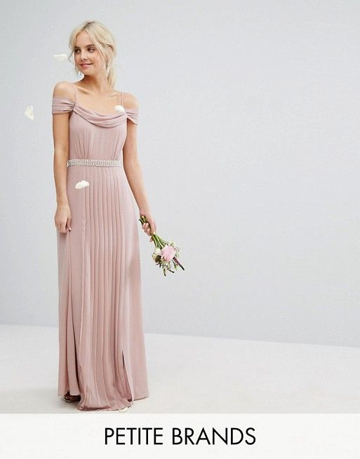 95 Tfnc Pee Wedding Cold Shoulder Embellished Maxi Dress Vestido Rosa Bonito Pinterest Fashion Online And