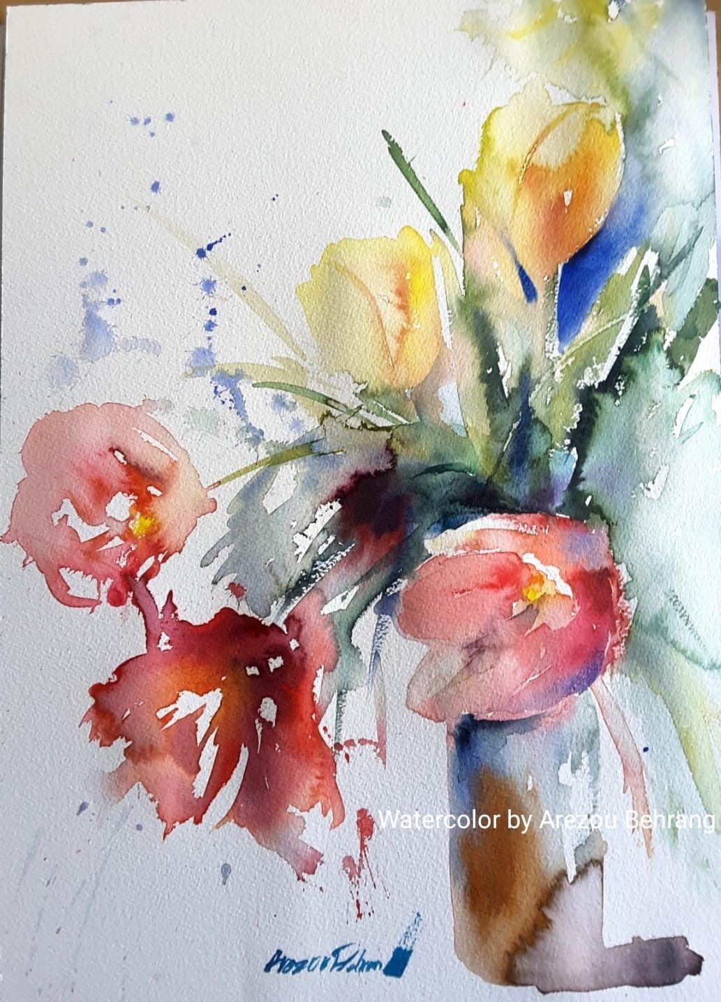 Epingle Par Jacqueline Farfal Sur Aquarelles Peinture Fleurs