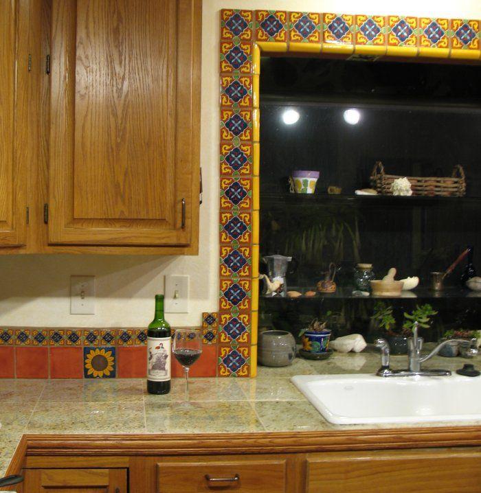 Mexican Ceramic Tile Backsplash
