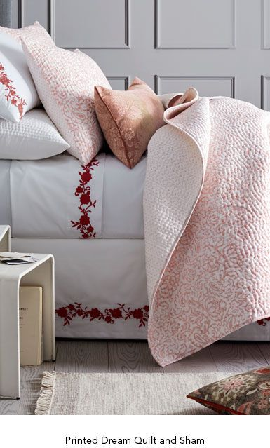 garnet hill cotton quilts and coverlets printed dream cotton quilt and sham