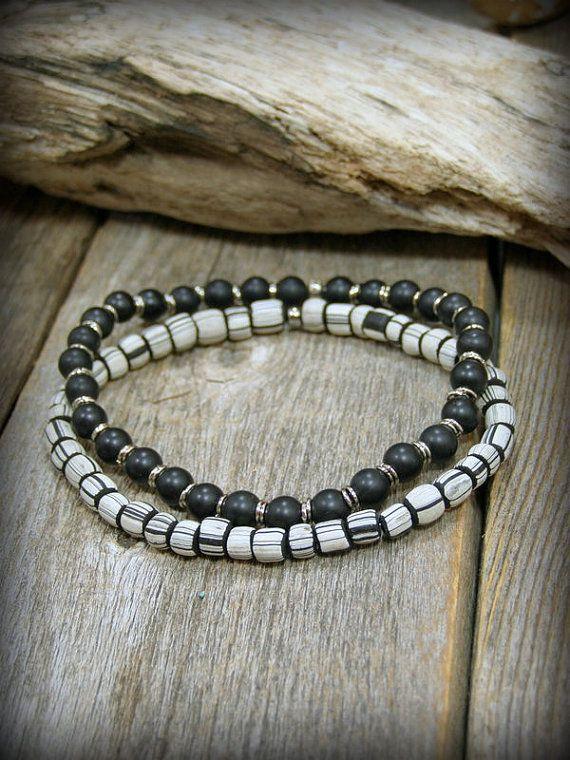 29d42d62038fe Mens Bracelet, African Bead Bracelet, Mens Jewelry, Bracelet for Men ...