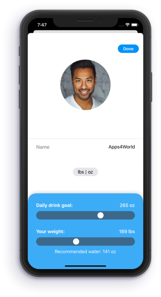 Drink Water Reminder and Tracker iOS SwiftUI in 2020