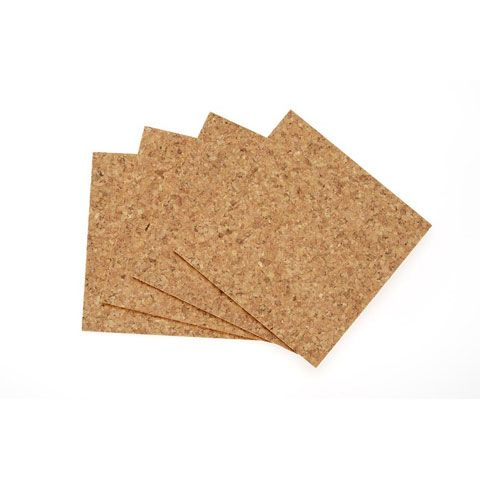 Cork Tile Squares 6 X 6 Inches 4 Pack Cork Tiles Cork Underlayment Cork Wall Tiles