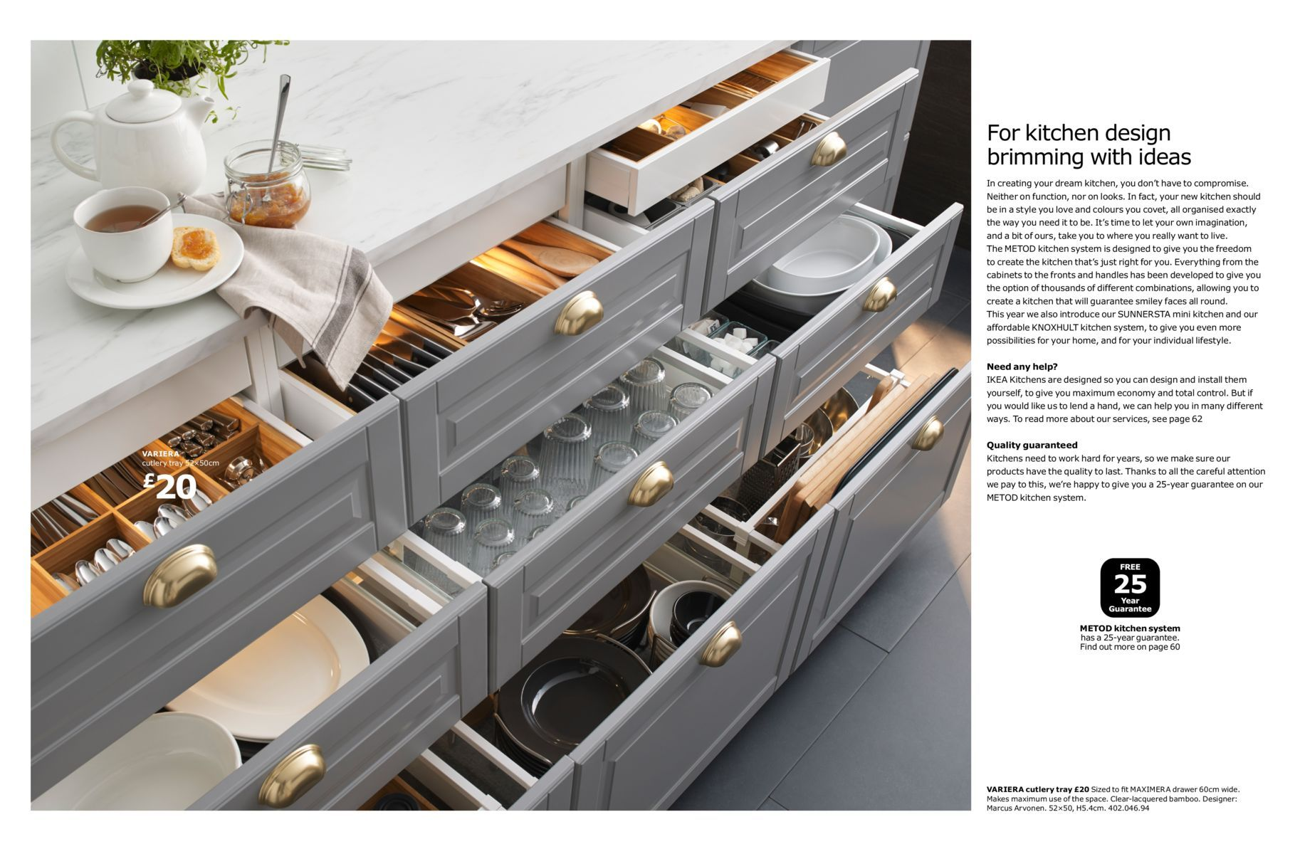 Ikea Kitchen Brochure 2017, EKBACKEN White Marble Laminate