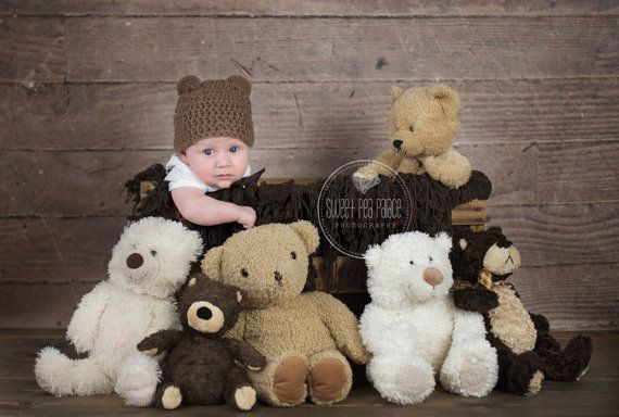 Baby Toddler Child Photography Prop Digital Backdrop for Photographers - One of the Gang Bears Digital Backdrop
