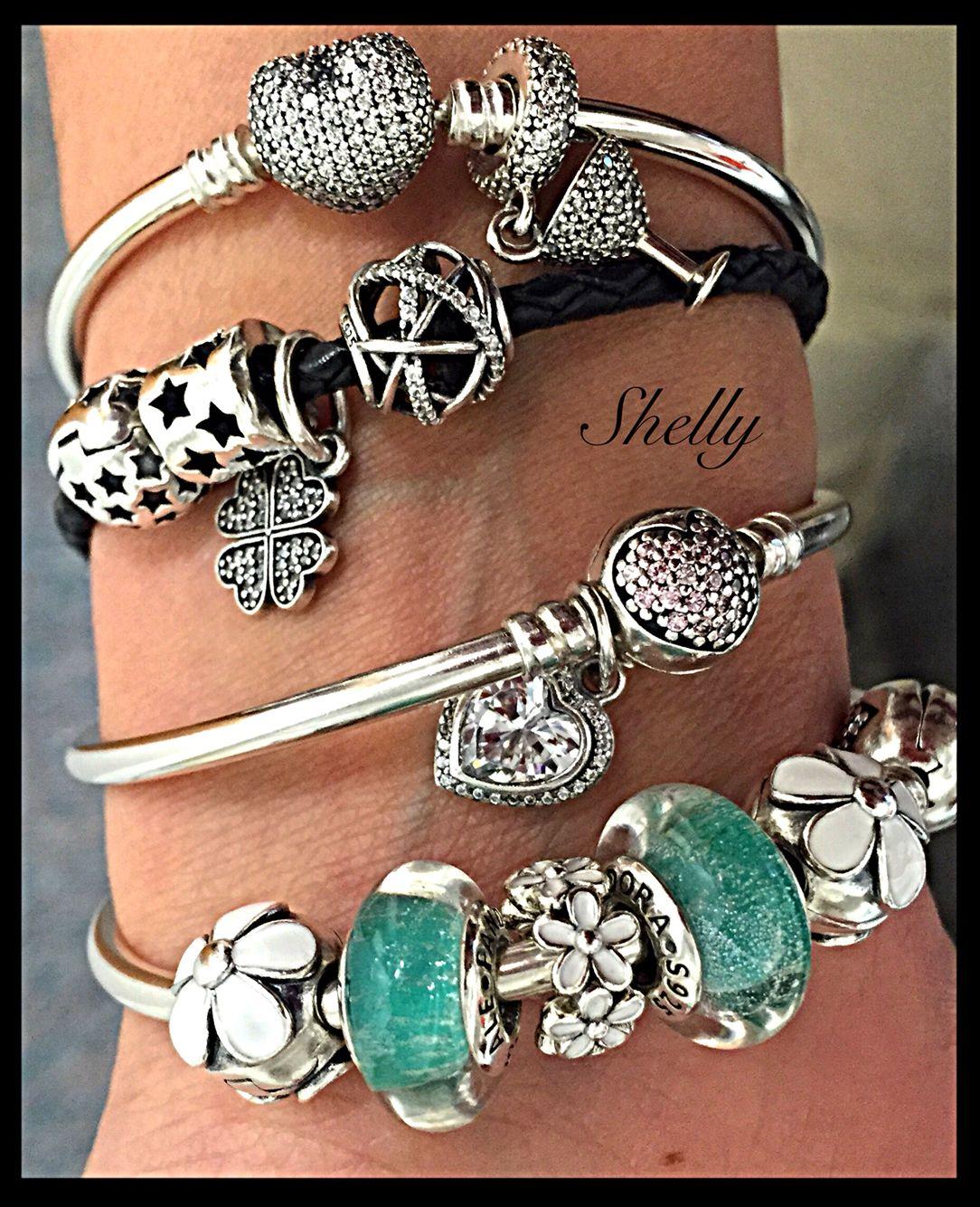 My stack | Pandora bracelet designs, Pandora jewelry, Pandora ...