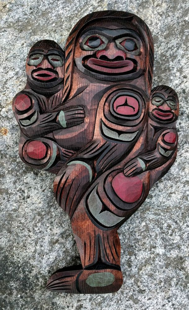 Northwest coast first nations canada native art bigfoot