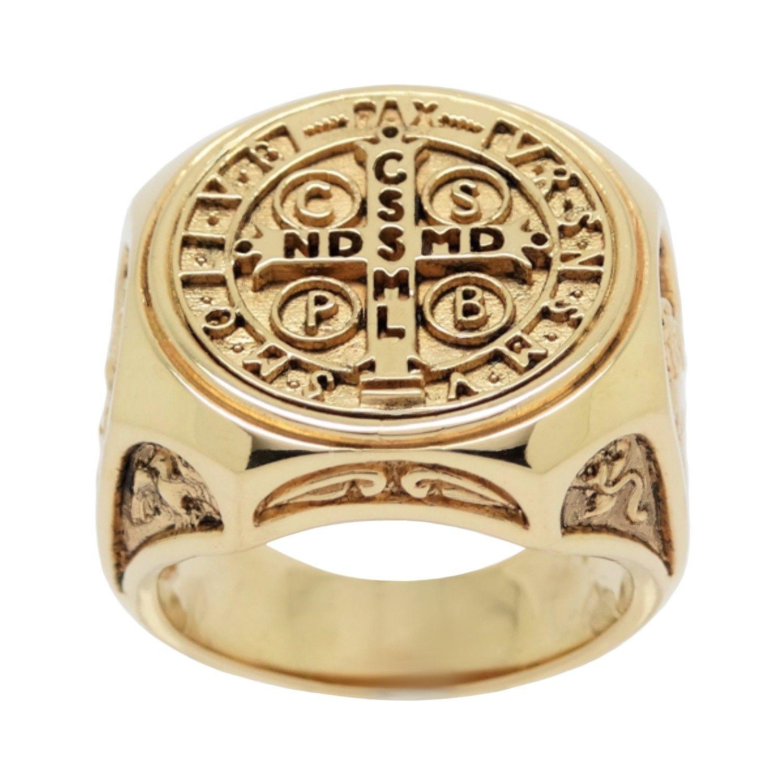 14K SOLID GOLD HEAVY Custom made Christian Roman Catholic