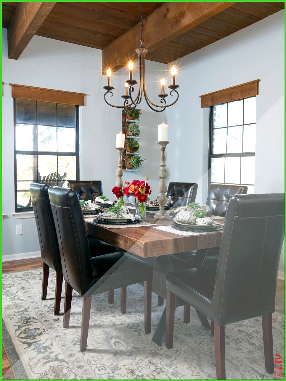 Fixer Upper Country Farmhouse Goes From Scary To Sensational Fixer Upper Country Farm In 2020 Fixer Upper Dining Room Dining Furniture Makeover Rustic Dining Furniture