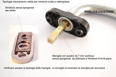 Blocca maniglia winblock modello 01a18 per maniglie dk for Blocca maniglie bambini