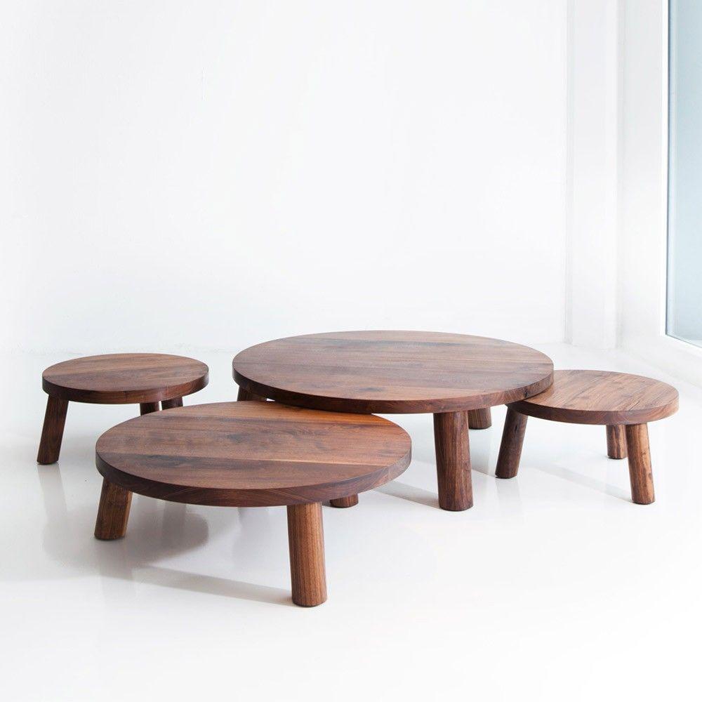 Walnut Trifecta Table Coffee Tables Modular Table Furniture Coffee Table
