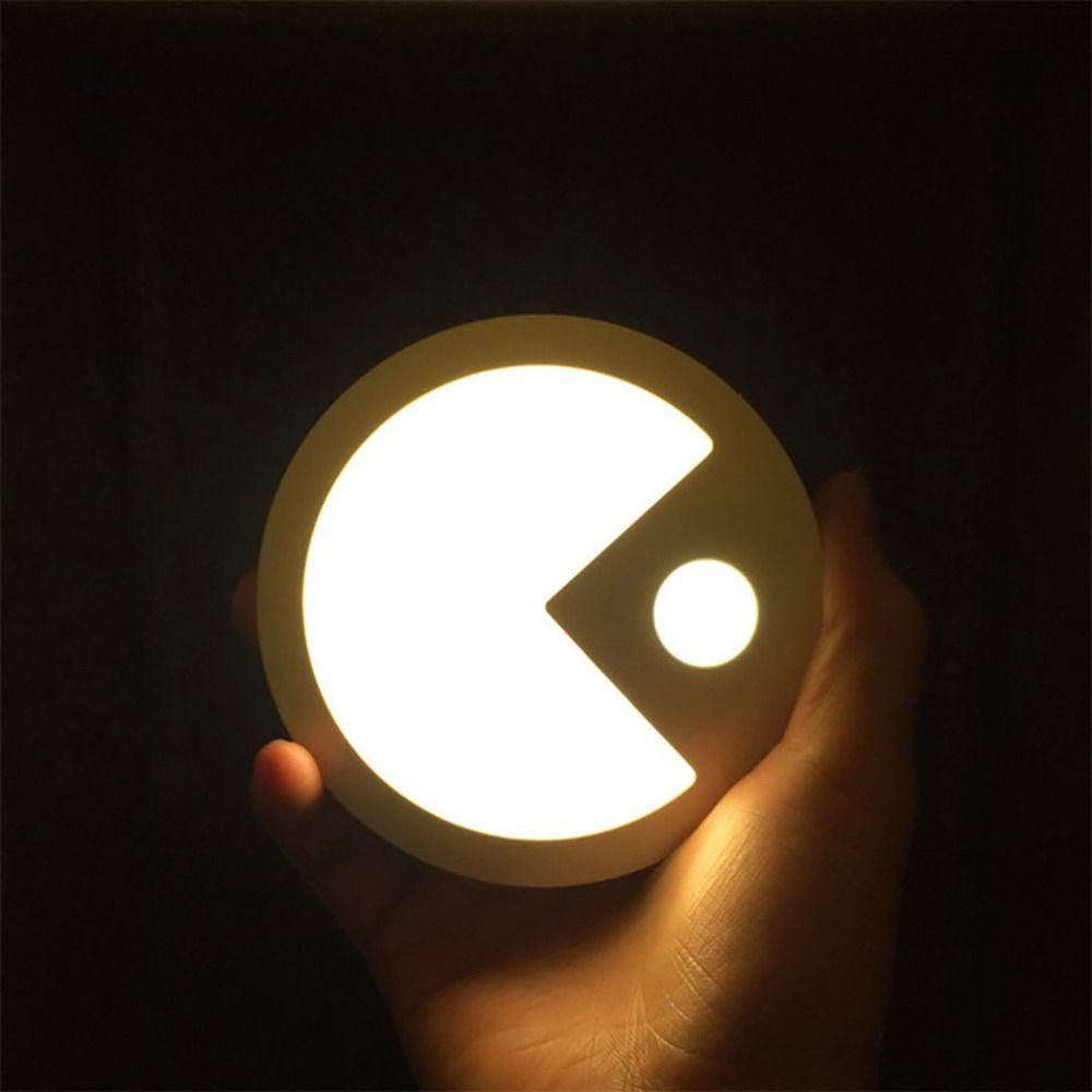 Pacman Pattern Light Soft Body Induction Nightlight Smart LED Lamp Bedroom  Corridor Intelligent Night Lamp