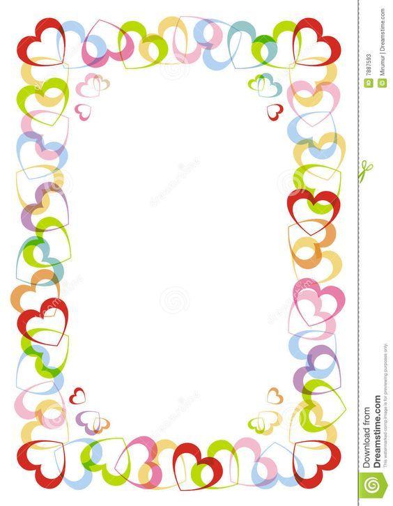 el-marco-con-el-corazón-para-el-día-de-tarjetas-del-día-de-san ...