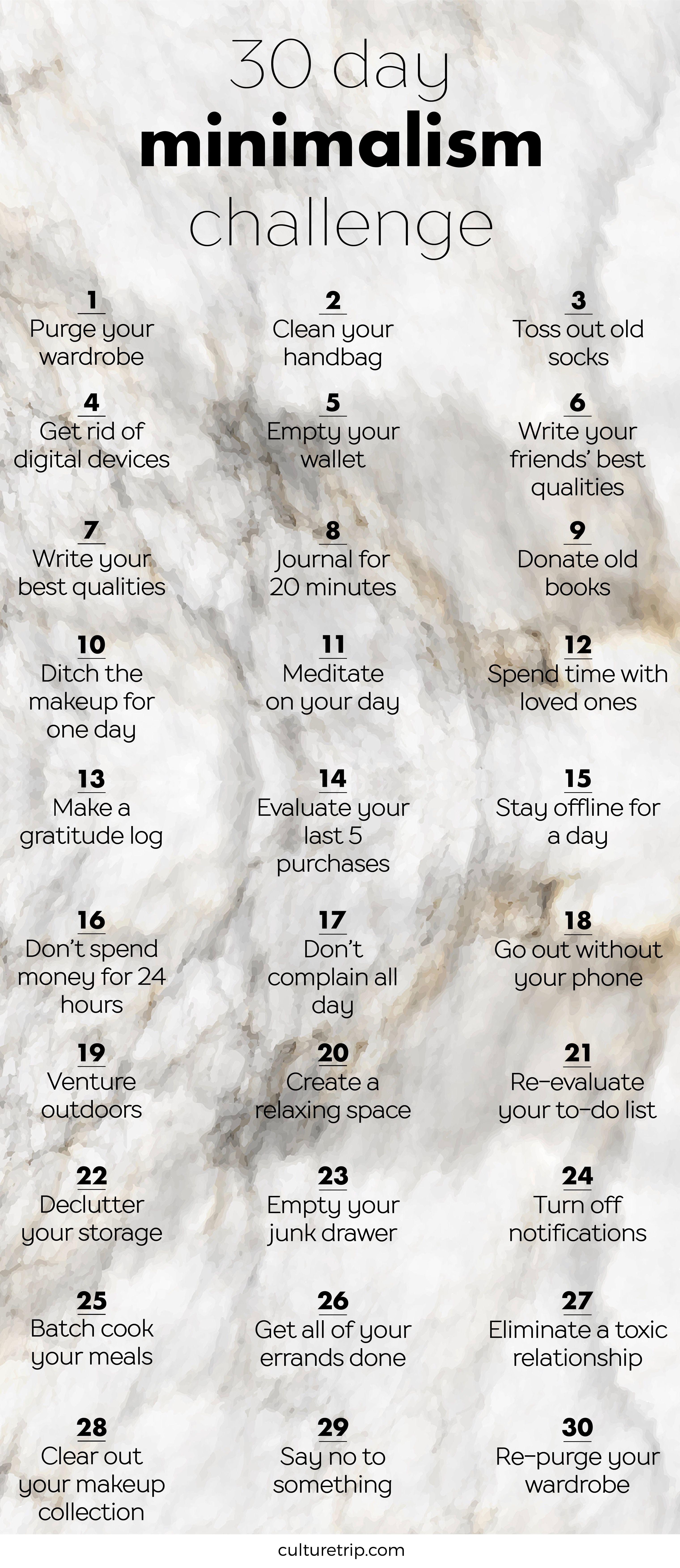 The 30 Day Minimalism Challenge | self improvement
