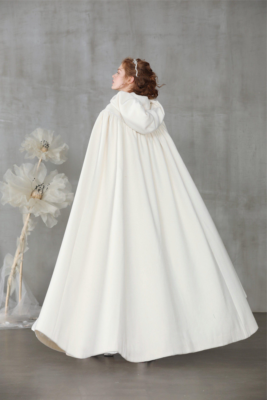 Perfumer 33 White Wool Cloak Wedding Cape Wedding Cloak Cape Wedding Dress Winter Wedding Dress [ 3000 x 2000 Pixel ]