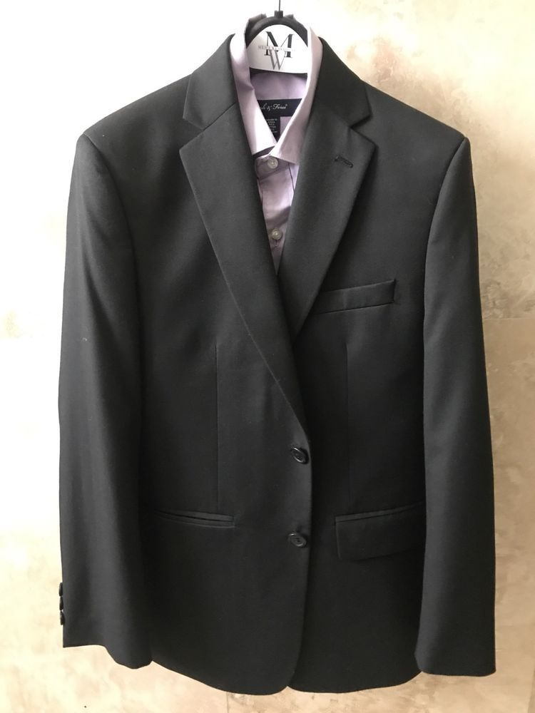 1a447eb7acc24 Joseph   Feiss Boys Black Suit - Size 14 Jacket  Size 12 pants  fashion   clothing  shoes  accessories  kidsclothingshoesaccs  boysclothingsizes4up  (ebay ...