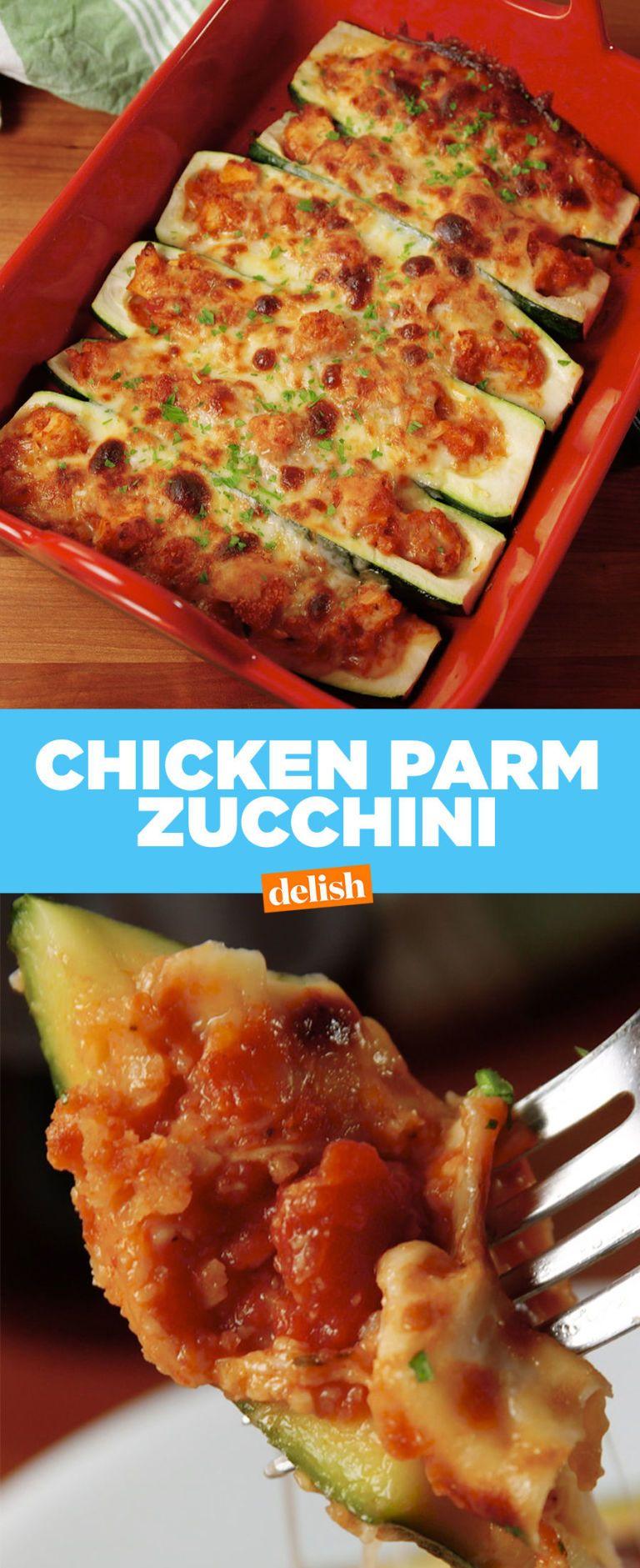 Chicken Parm Stuffed Zucchini Recipe Diet Foods