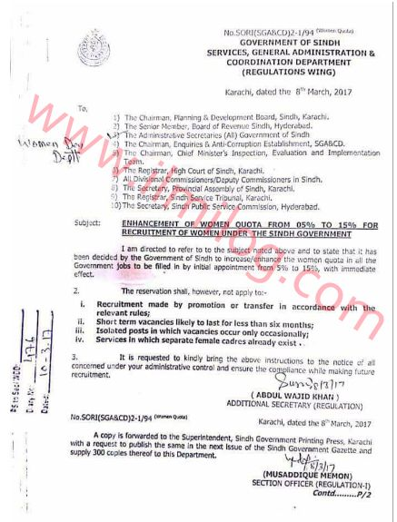 Notification No SORI(SGA\CD)2-1 94 is issued by Government of - recruitment request form