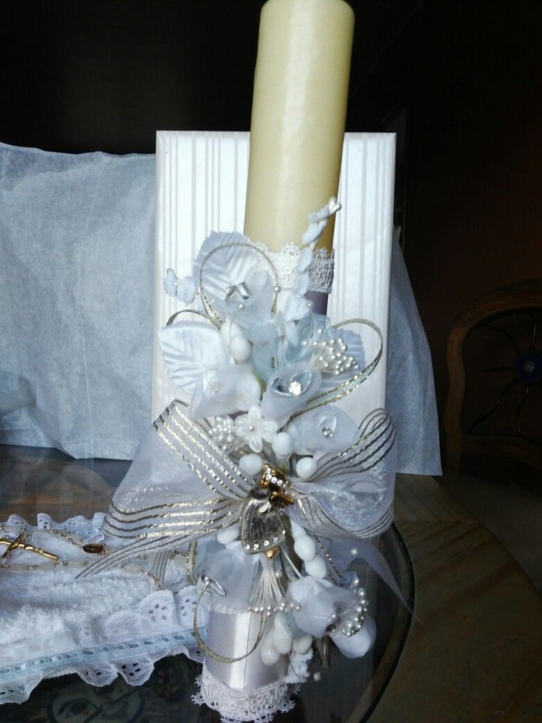 Vela para bautizo velas pinterest velas para bautizo - Velas decoradas para bautizo ...