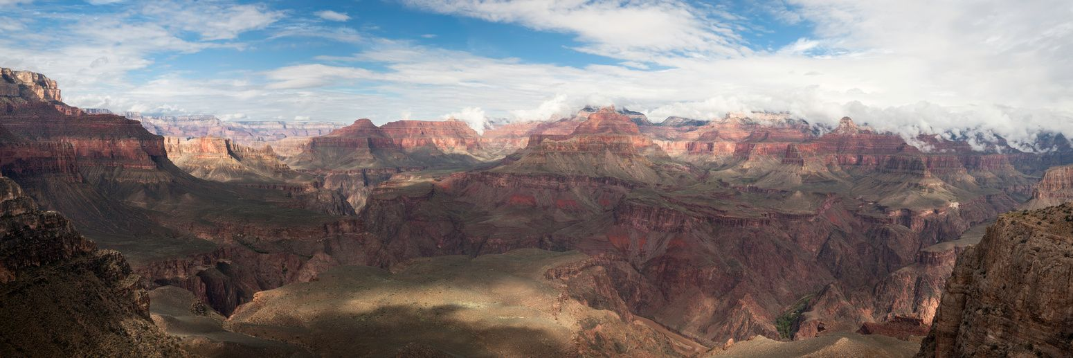 """""""Beyond the Rim""""  This image was captured at Skeleton Point down in the Grand Canyon during an epic October Storm. One of my finest works to date - this image was created using six exposures and stitched into one giant panorma."""
