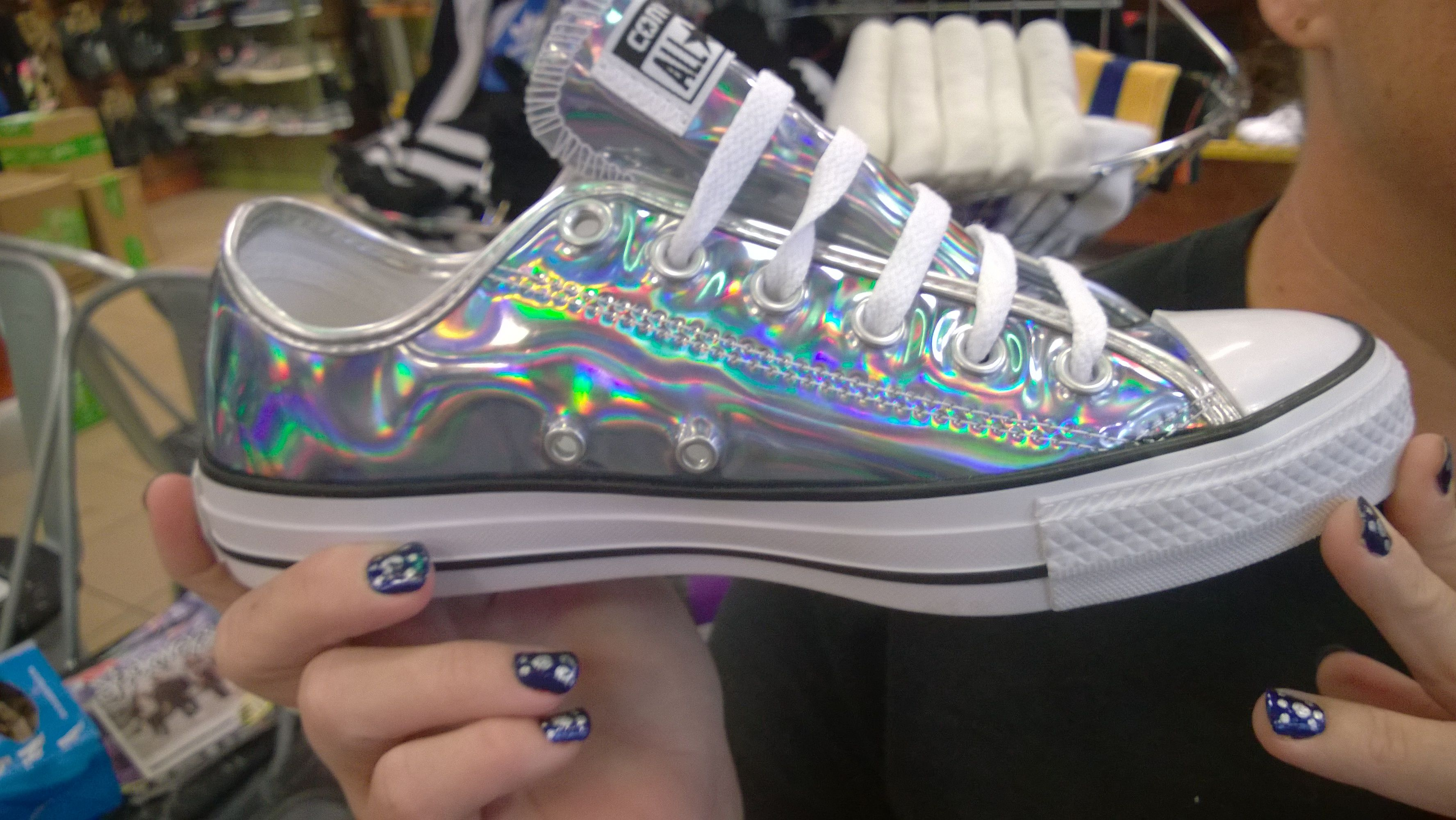 61b64978b0d03c I found these holo converse at Journeys shoe store for  60  simplynailogical