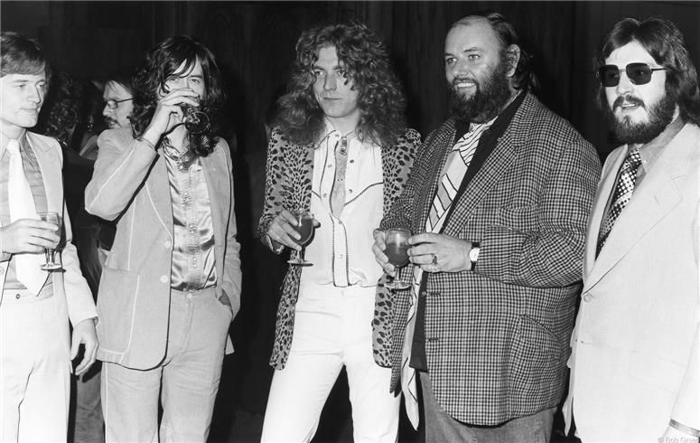 Led Zeppelin and Peter Grant, NYC, 1974