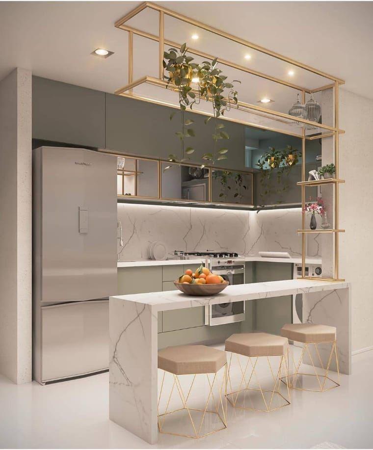 Quer uma cozinha pequena decorada? Veja 35 modelos
