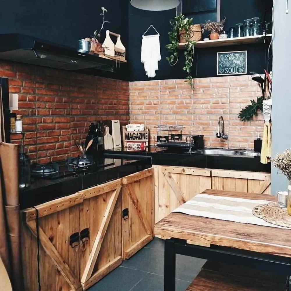 12 Dapur Industrial ideas   dapur, industrial, kitchen design